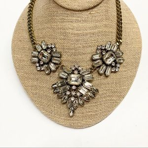 2/$15 Rhinestone statement bib necklace
